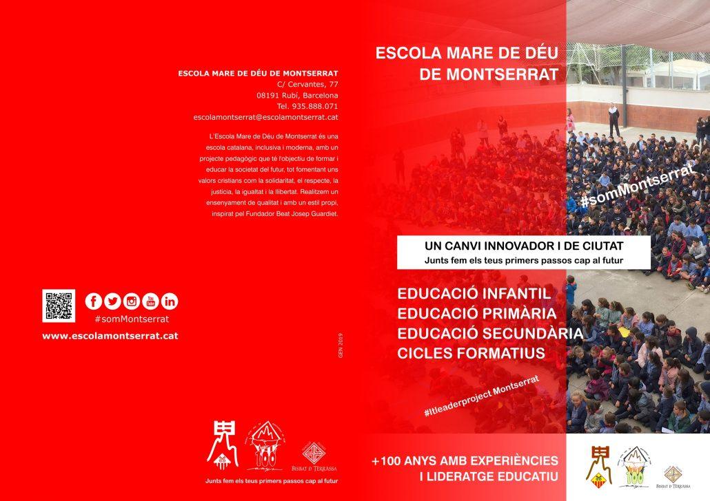 Díptic Escola Montserrat