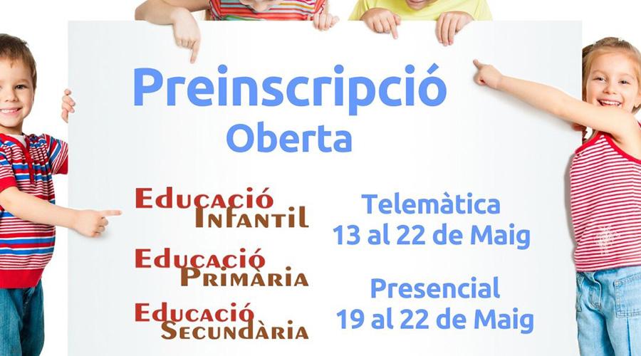 Preinscripció Escola Montserrat 2020 Noticies